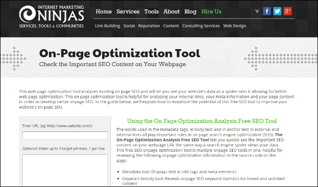 on page optimization tool