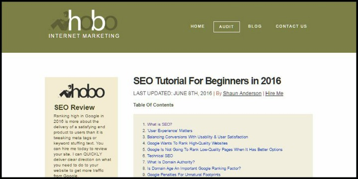 SEO Tutorial for Beginners in 2016 by Hobo