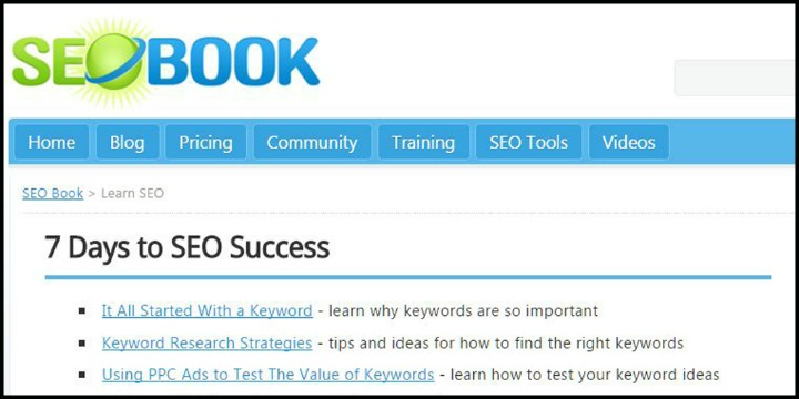 SEO Book's 7-Day Guide